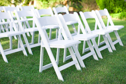 White Resin Garden Chairs