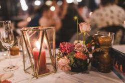 Lantern - Small Glass Brass and Lantern