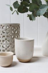 Votives - Tall Natural White Stoneware