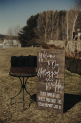 Sign Welcome to Our Unplugged Wedding
