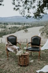 Arm Chair - Black Leather Louis