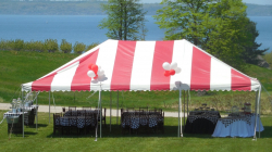 20x30 Red/White Frame tent