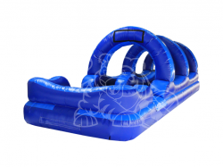 Blue Slip and Slide With Pool