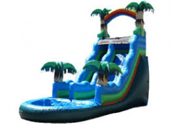 14 FT Tropical (WET) Slide With a pool 28ftLx17ftWx14ftH
