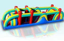 38 FT Multi Color Obstacle Course