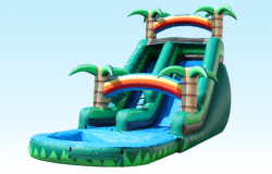 18 Ft Water Slide with Pool 33ftLx16ftWx24ftH