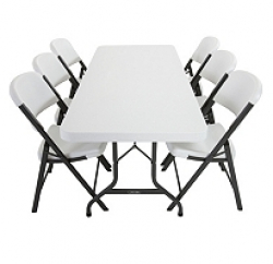 Lifetime 6Ft Table & 6 Lifetime Chairs