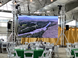 16'x9' LED Video Wall w/ Truss, Audio and Video Tech
