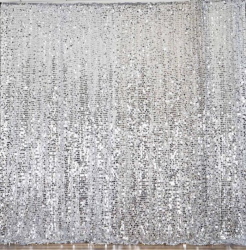Backdrop - Silver Sequin