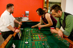 Craps Table w/ skirt & Dealers