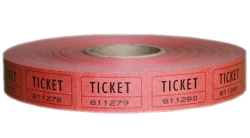 Ticket - Single 2000 roll