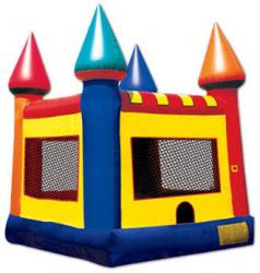 Plain Castle with Hoop Bounce House
