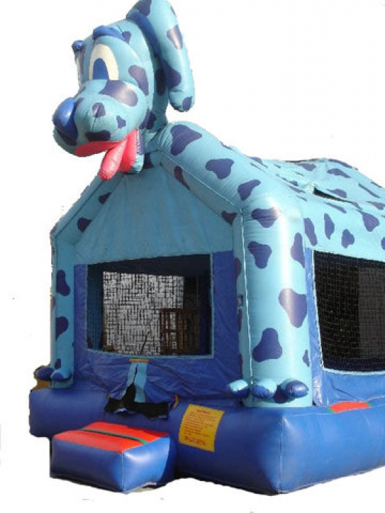 Swell Blue Dog Bounce House Roo Jumps Home Interior And Landscaping Spoatsignezvosmurscom