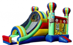 Hot Air Balloon Bounce House and Slide Combo
