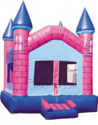 Blue and Pink Bounce House