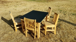 Table- Kids chalkboard with 4 chairs