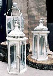 Lanterns- Large ivory lanterns