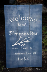 Sign- S'mores bar get toasted