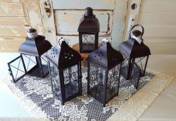 Lanterns- Large black