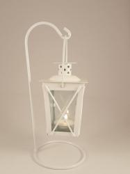 Lanterns- Tealight white hanging $3