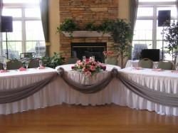 "head bridal table wedding reception 1626271378 Table- 36"" Round table"