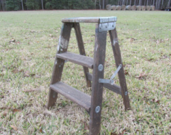 2' rustic wooden ladder