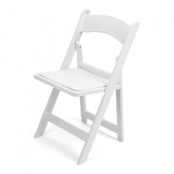 white resin folding chair padded seat front 1626272055 Chairs- White Padded Resin Garden