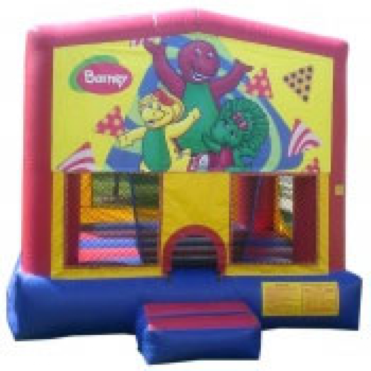 Surprising Barney Theme 13 X 13 Inflatable Jump Rentals Download Free Architecture Designs Boapuretrmadebymaigaardcom