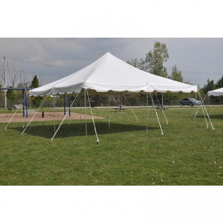 20 X 20 White Frame Tent Sky High Slides