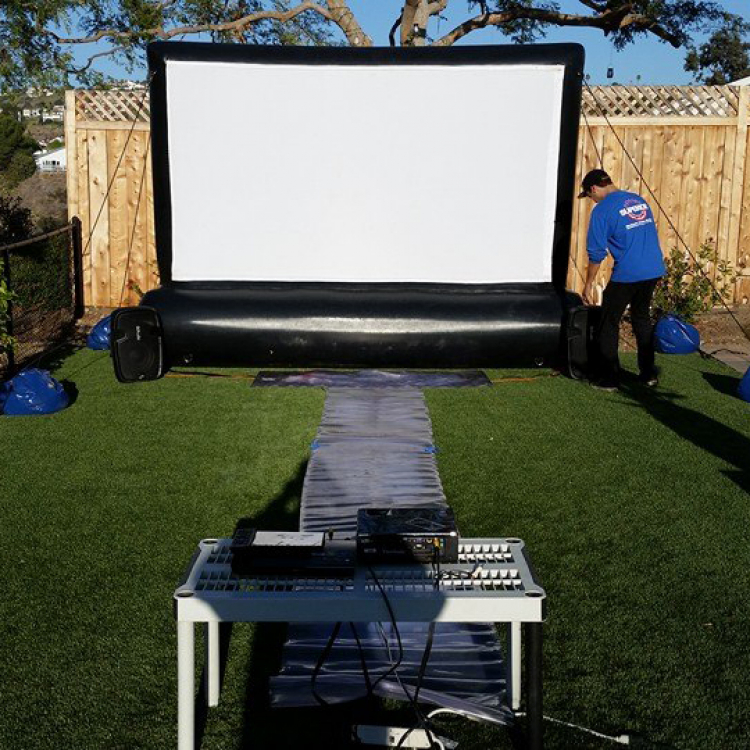 08ft BACKYARD MOVIE SCREEN