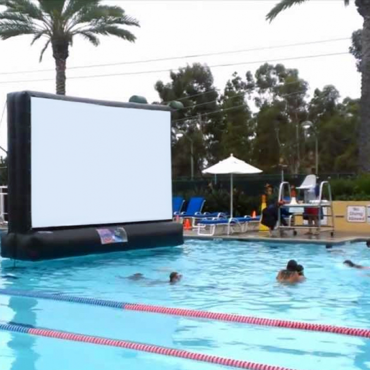 16ft SWIMMING POOL MOVIE SCREEN   Socal Outdoor Movies
