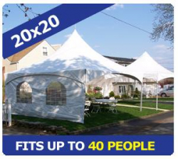 20x20 Tent Package