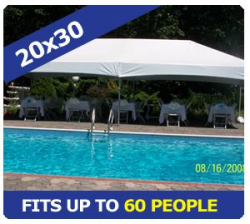 20x30 tent package
