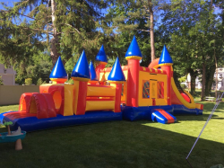 4-1 Bouncer Water Slide Combo Obstacle