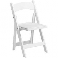 White  padded wedding chairs