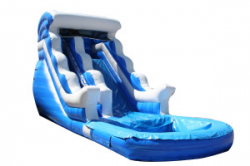 16' Ft Blue Wave- Water Slide