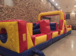 40' Obstacle with mini rope wall/slide