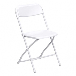 White Plastic Party / Wedding Chairs (650lb Capacity)