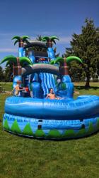 18ft Blue Crush Water Slide