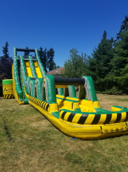 27ft Dual Lane Toxic Drop Water Slide