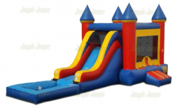 Red Blue Combo Water Slide