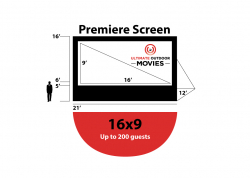 25-ft Premiere Movie Screen