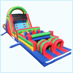 45'L Obstacle Course with 12' high Slide