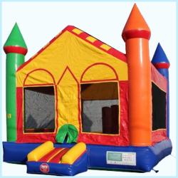 Bounce Castle w/Basketball Hoop & Pylons (15x15)