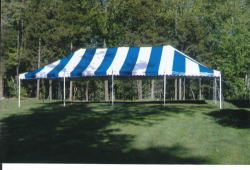 20 x 30 Party Tent Package (Blue and White)